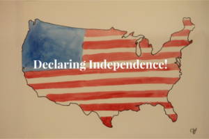Declaring Independence Day map
