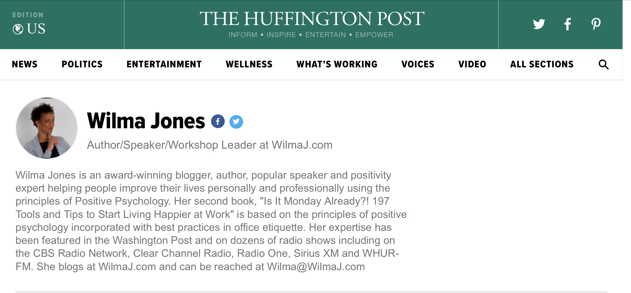 wilma jones huff post page link